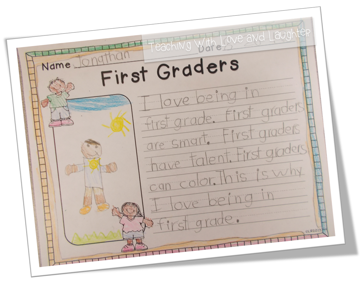 teaching love and laughter kindergarten and first grade writing this writing activity is part of my back to school language activities for first graders