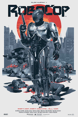 Robocop Regular Edition Screen Print by Grzegorz Domaradzki (Gabz) x Grey Matter Art