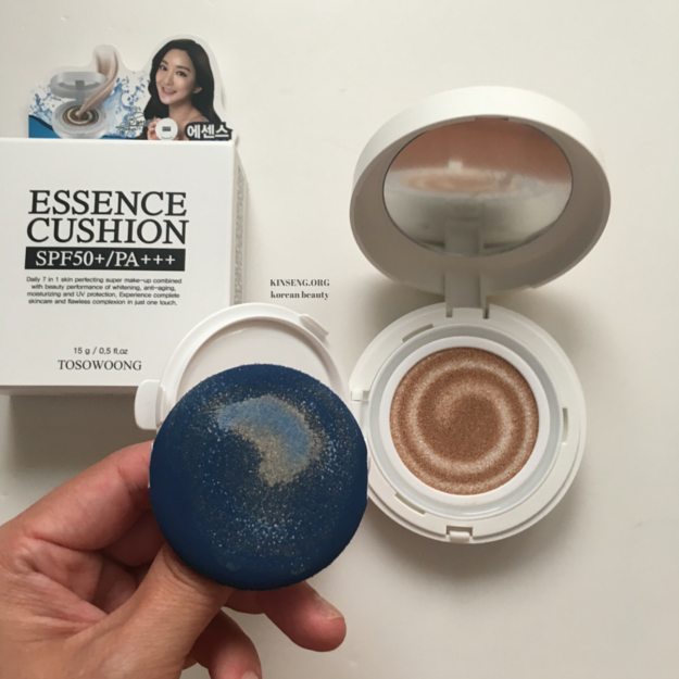 Tosowoong Essence Cushion SPF 50+ PA+++  #21 Light Beige Review