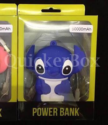 รีวิวขาย Power Bank ชาร์จเจอร์ลายตัวสติช 1