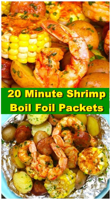 20 Minute Shrimp Boil Foil Packets