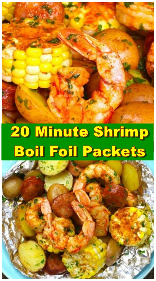 20 Minute Shrimp Boil Foil Packets