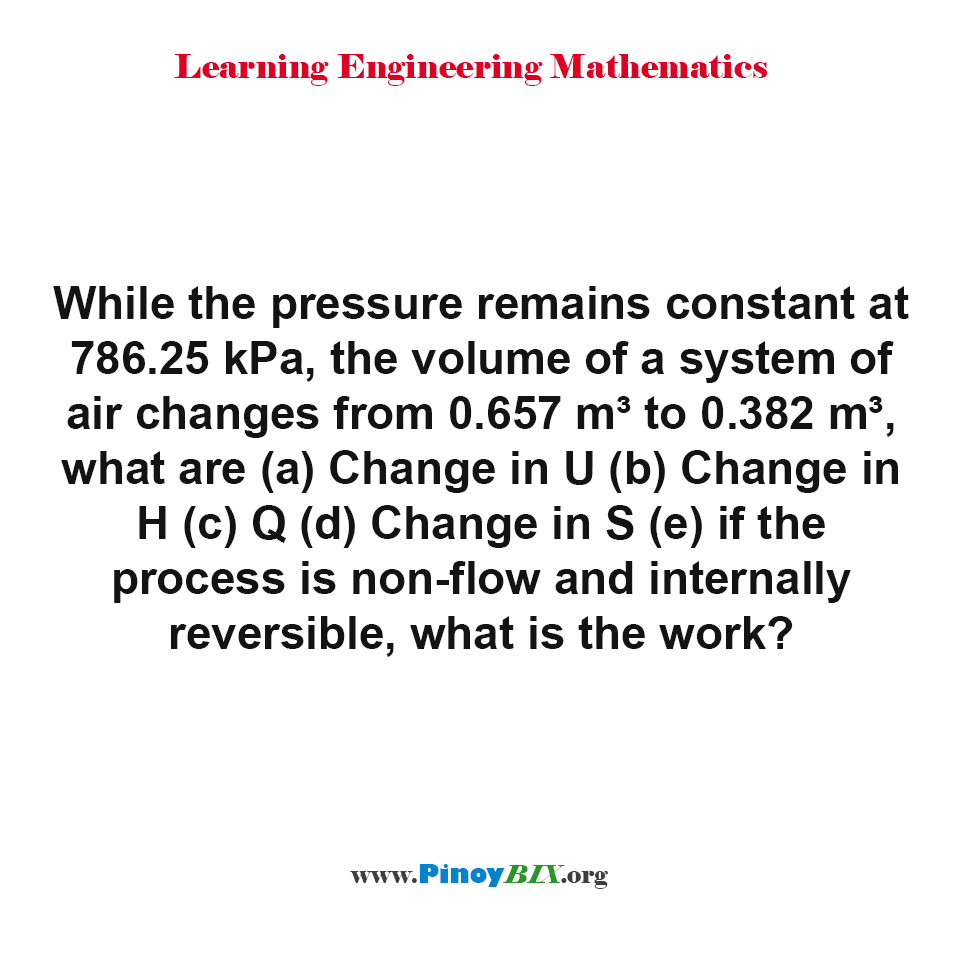 Review: Problem Solving in Isobaric Process 02