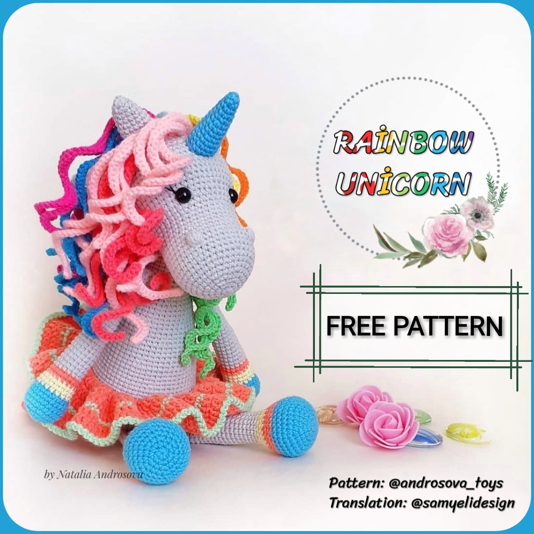 CROCHET PATTERN: Rainbow Unicorn Amigurumi Pattern / Written | Etsy | 1092x1092