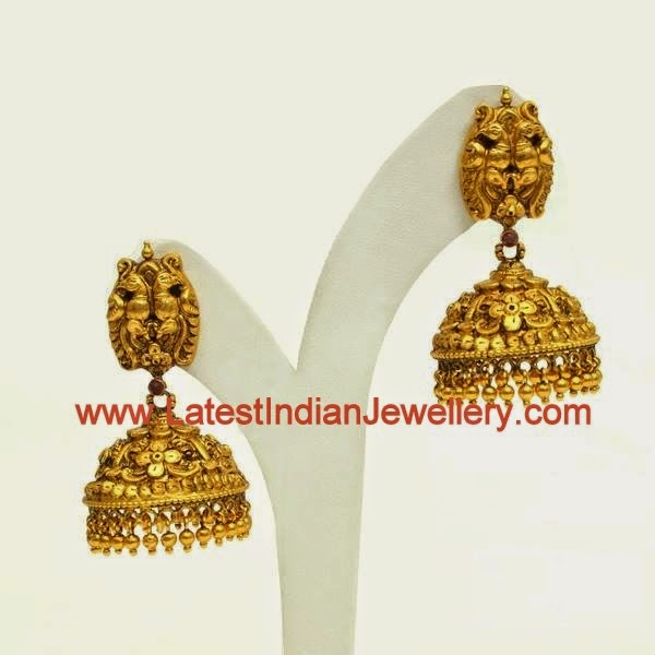 Nakshi Gold Jhumkas earrings