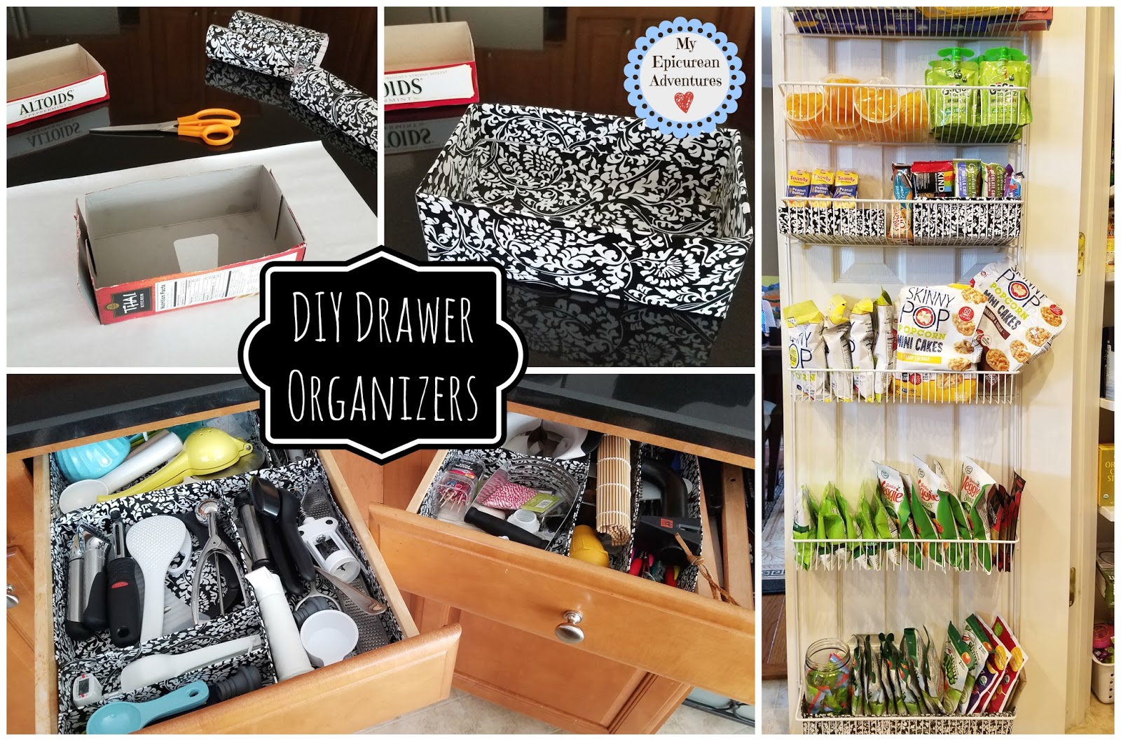 My epicurean adventures do it yourself drawer organizers using diy drawershelf organizers made cheap and easy using contact paper and cereal boxes solutioingenieria Gallery