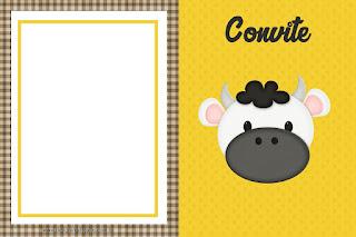 Para hacer invitaciones, tarjetas, marcos de fotos o etiquetas, para imprimir gratis de de Divertida Vaquita.