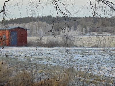 View towards lake Laxsjön