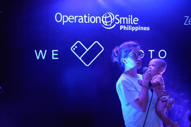 Operation Smile Philippines Director of Programs, Christine Lu with Ari Lu