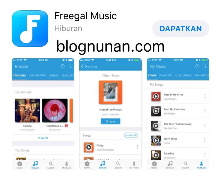 beragam aplikasi pemutar musik iphone