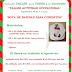 """Invitación Taller Ocupacional: """"Bota de navidad para cubiertos"""". Septiembre 24 2016."""