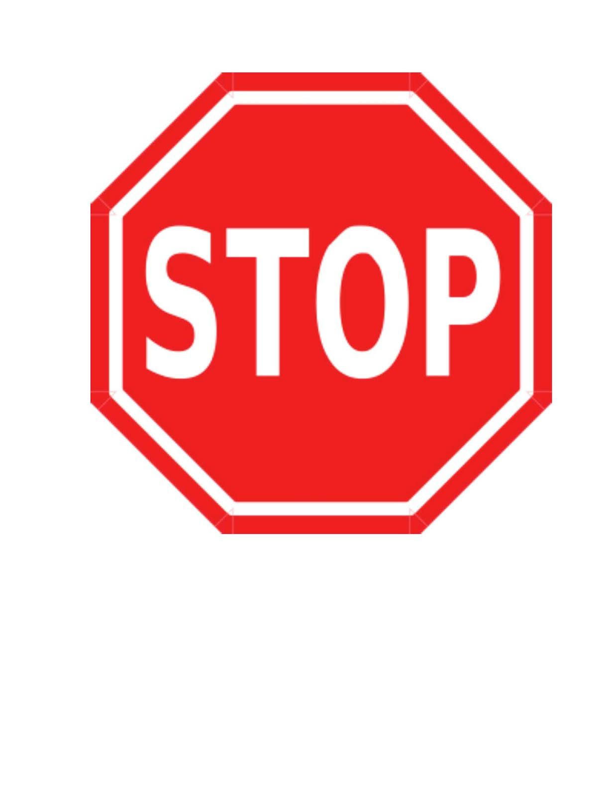 Stop Sign Behavior Management Technique - Classroom Freebies