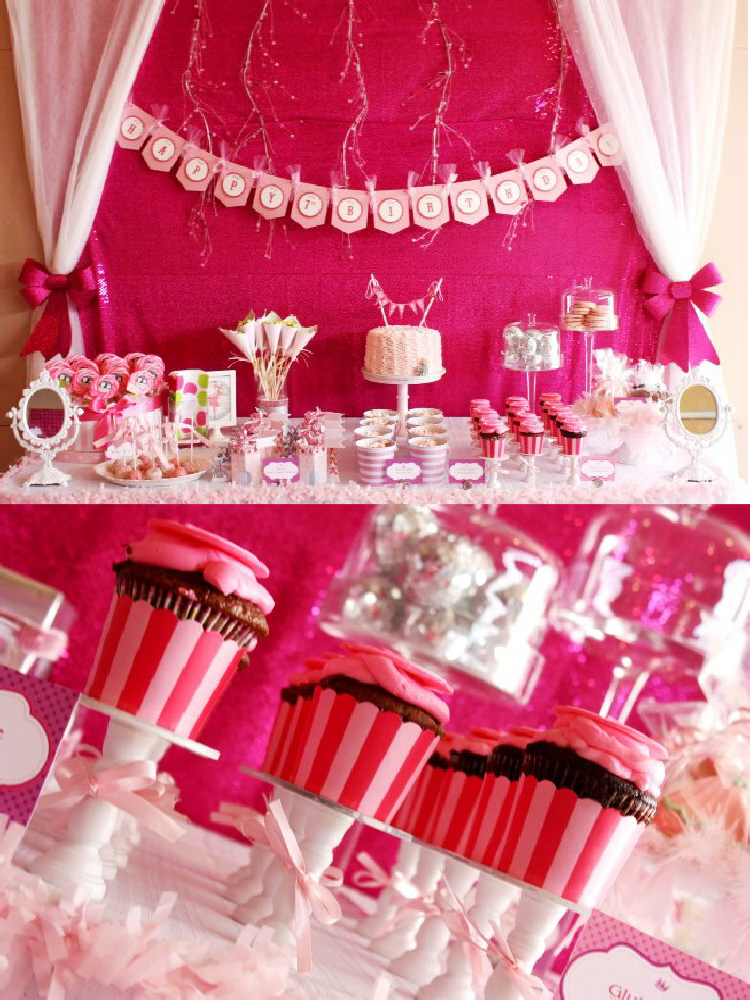 A Pink 7th Birthday Enchanted Prom Party - via BirdsParty.com