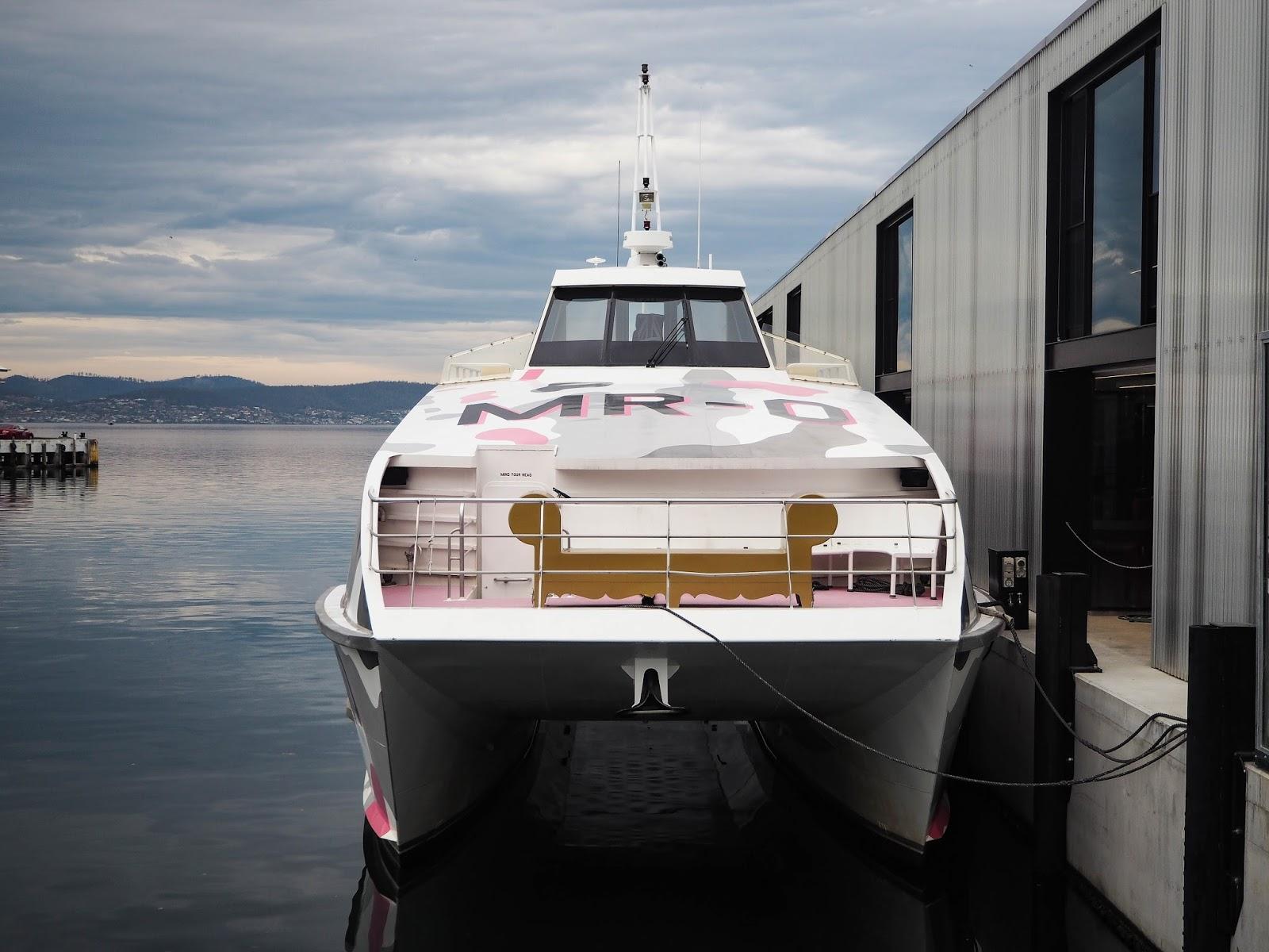 Boat to MONA gallery, Tasmania
