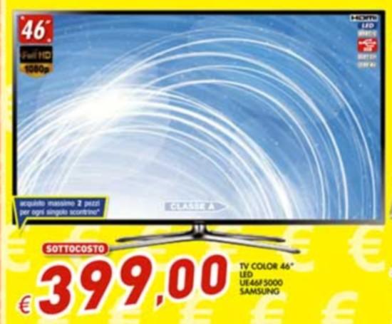Offerta Samsung UE46F5000 TV Led in sottocosto bomba da ...