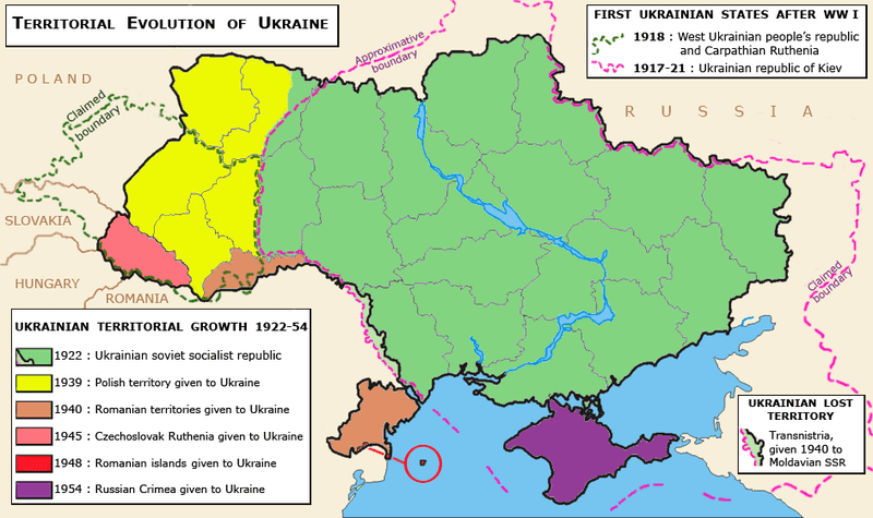 Territoral evolution of Ukraine