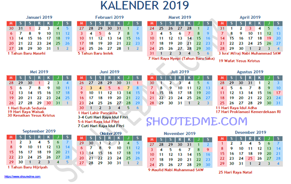 download kalender 2019 pdf