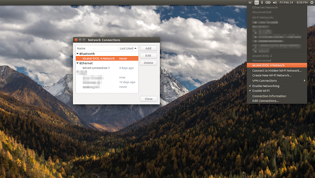 android bluetooth tethering in ubuntu