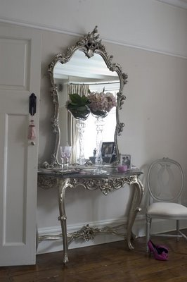 Primp And Prep In A Vintage Silver Makeup Dresser Mirror