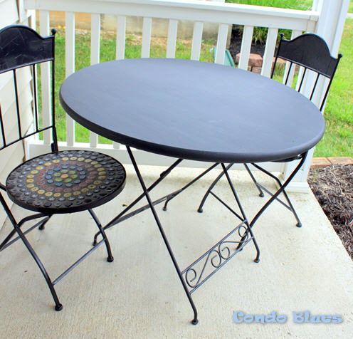 Fabulous Plop your chalkboard table on your deck porch or patio pull up some chairs and party