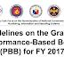Guidelines on the Grant of Performance-Based Bonus (PBB) for FY 2017