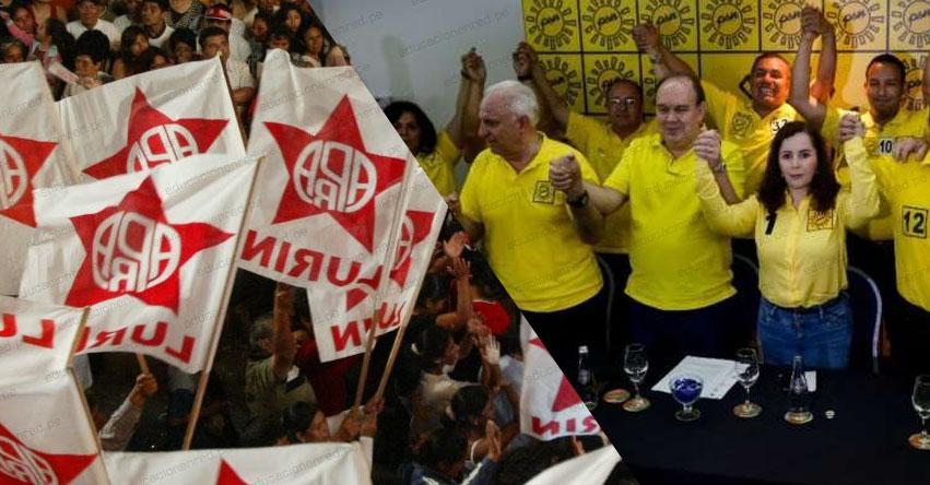 NO VAN MÁS: Apra y Solidaridad Nacional no tendrían congresistas