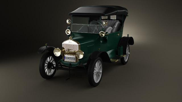3dsMax高精度Ford老爺車3D模型下載