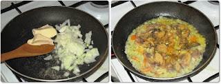 Cotlet la gratar cu sos de ciuperci
