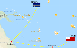 There are no direct flights from Nauru to Tonga
