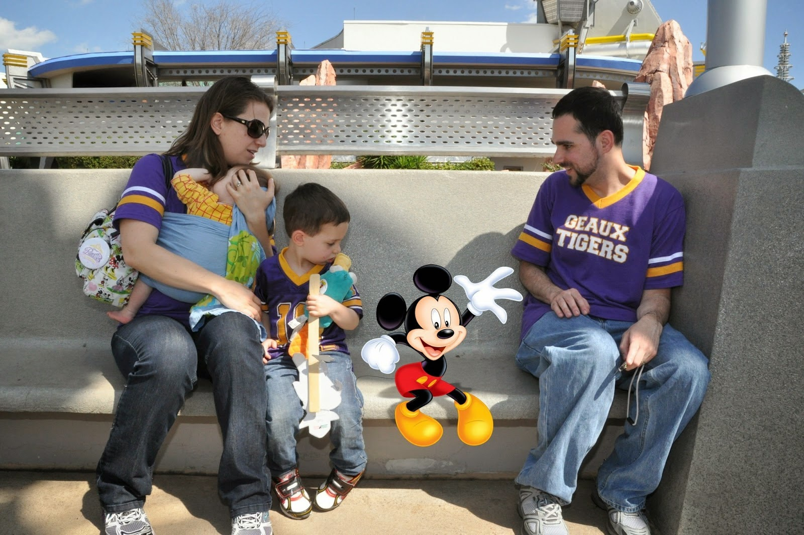 Foto com Mickey Memory Maker na Disney