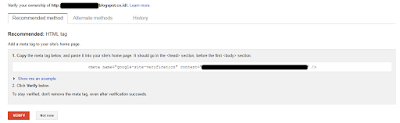 Cara Daftar dan Verifikasi Blog ke Google Webmaster Tools (Search Console)