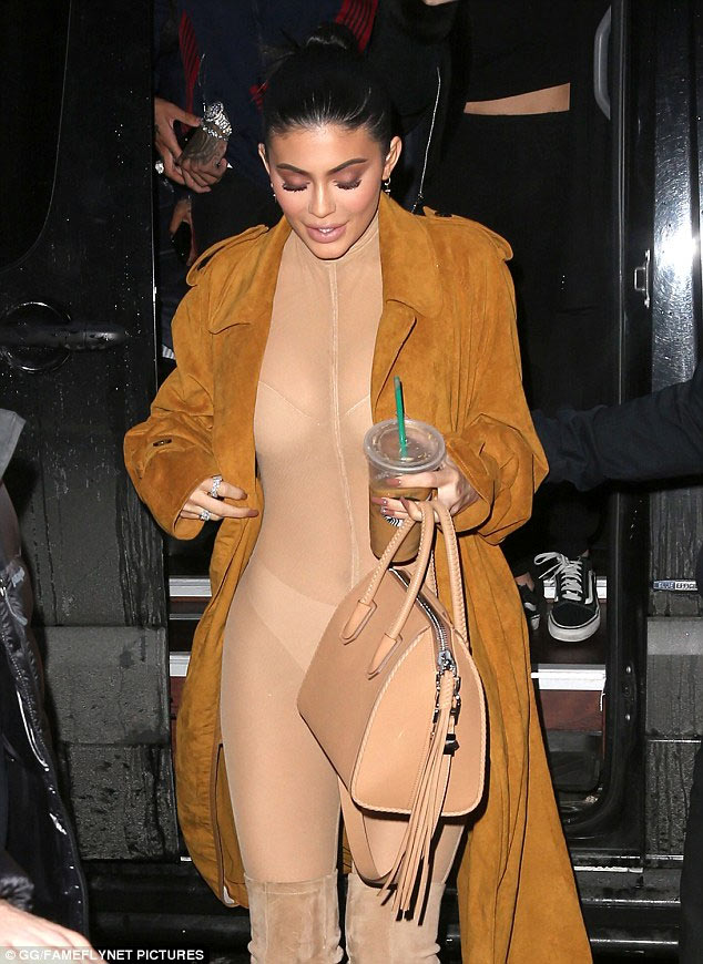 Kylie Jenner steps out in nude jumpsuit as Kardashian-Jenner clan shunned Grammy Awards
