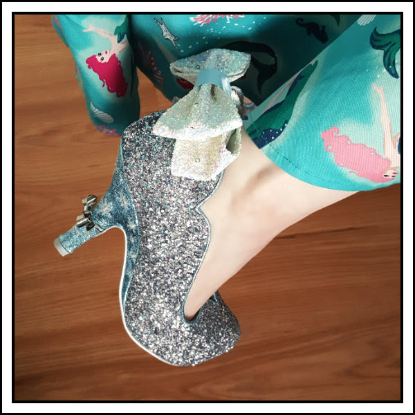 irregular choice disney silver glitter bow shoes