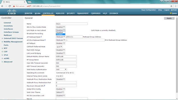 My CCNA Wireless Journal: Configuring Link Aggregation (LAG