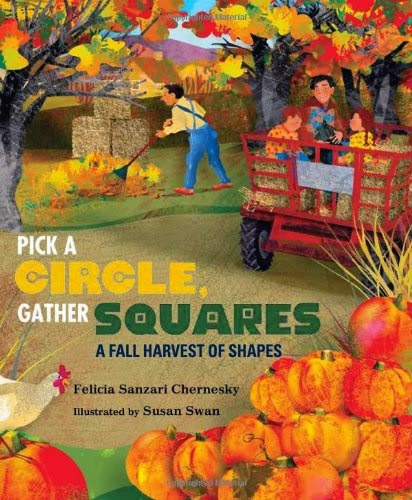 Pick a Circle, Gather Squares, part of children's book review list about fall