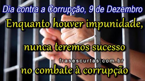 frases luta contra corrupção