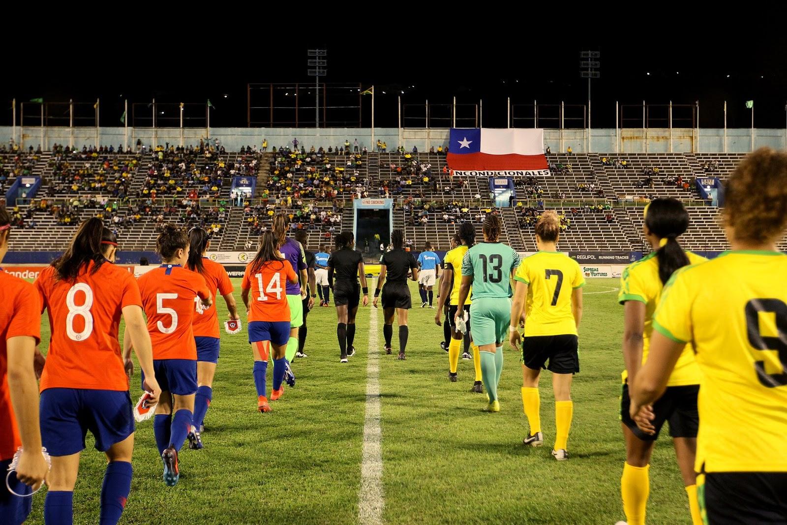 Jamaica y Chile en partido amistoso femenino, 28 de febrero de 2019