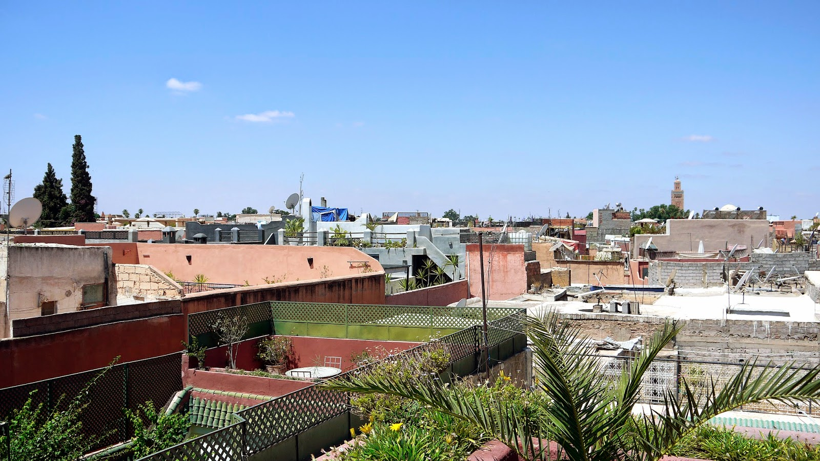 Views from rooftop terrace Riad Noga Marrakesh