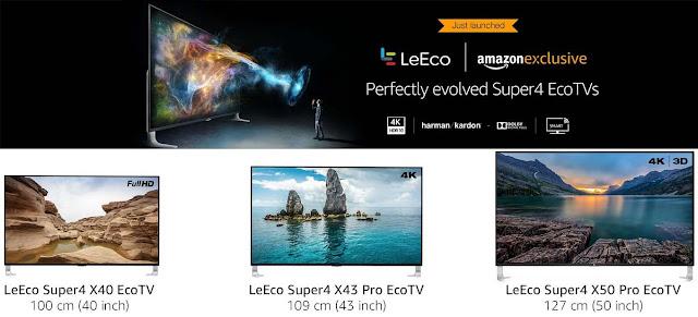 LeEco Super4 EcoTVs | Super4 X40 | Super4 X43 Pro | Super4 X50 Pro