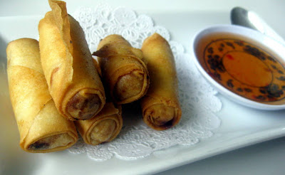Thai Spring Rolls - Dusitra Thai Cuisine - North Haven, CT - Photo by Taste As You Go