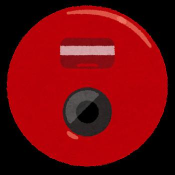 火災報知機のボタンのイラスト