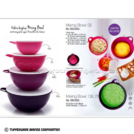 Mixing Bowl ~ Katalog Tupperware Promo Juni 2016