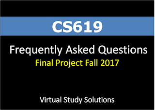 CS619 Final Project Fall 2017 Frequently asked Questions