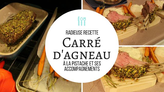 #Provigolavenue - Radieuse Recette: Carré d'agneau du Québec à la pistache et ses accompagnements