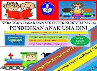 Kerangka Dasar dan Struktur Kurikulum 2013 Pendidikan Anak Usia Dini (PAUD)