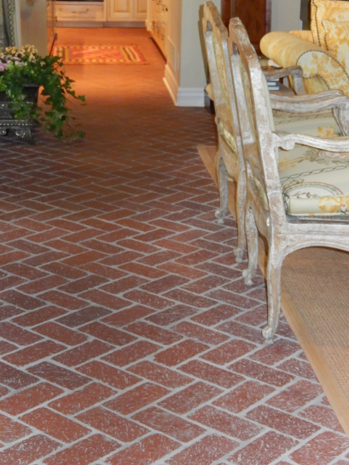 The French Tangerine  brick flooring