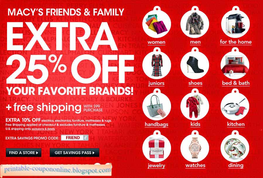 Macy's online coupon codes