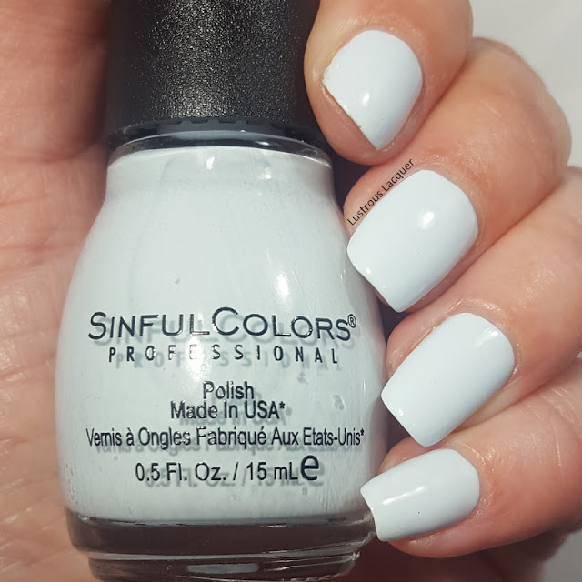 pale blue creme finish nail polish