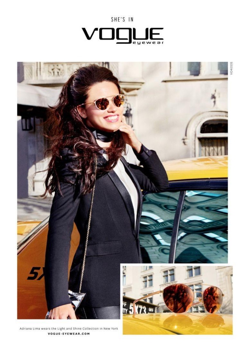 Vogue Eyewear Fall/Winter 2016 Campaign featuring Adriana Lima