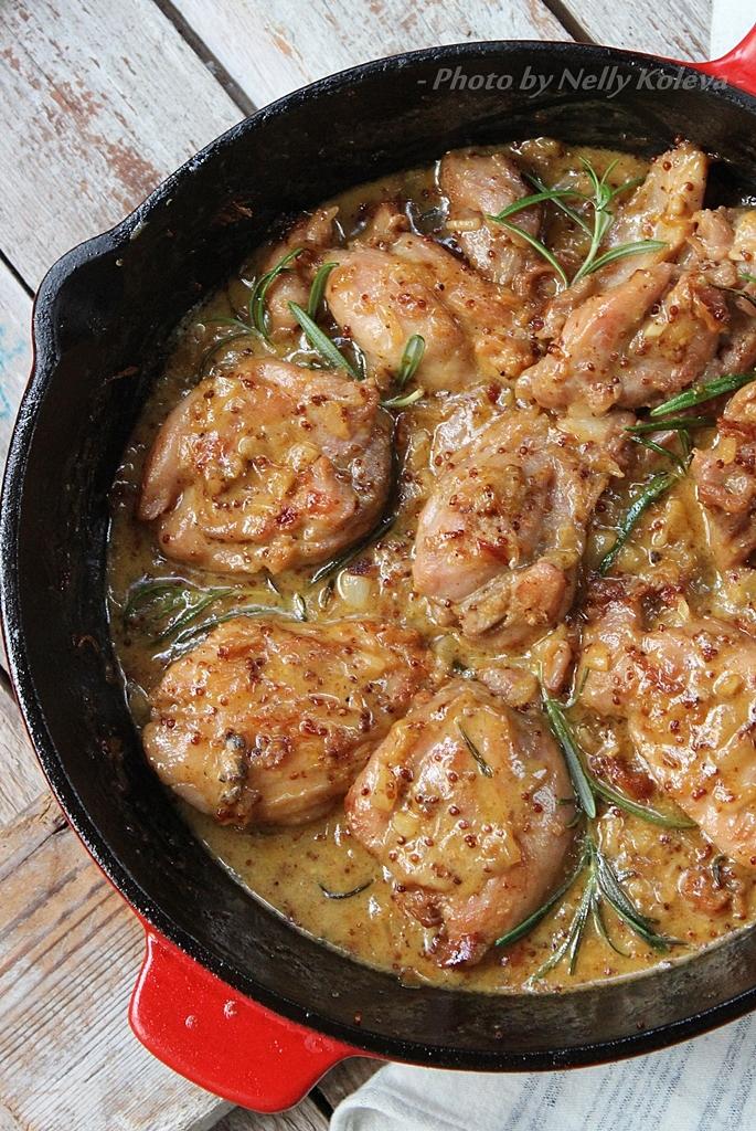"""Резултат с изображение за """"Пиле с горчица, мед и розмарин"""""""
